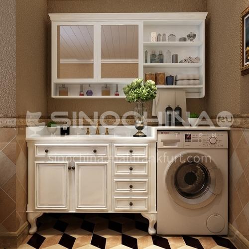 American bathroom cabinet drum washing machine cabinet X7998-Empire