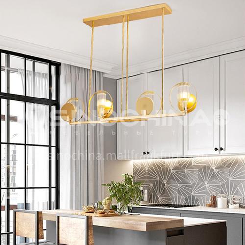 Modern light luxury villa lobby bar glass lamp, living room dining room chandelier-NVX-SH-BADK1811