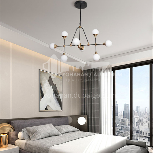 LED chandelier restaurant minimalist creative design art living room lamp Nordic modern bedroom chandelier NVC-SY-BJDK5001