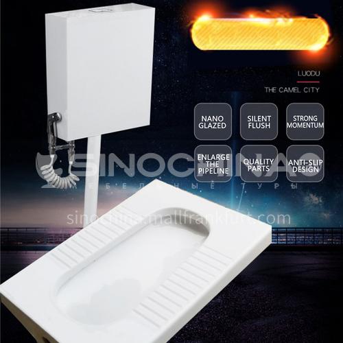 Bathroom household double-layer splash-proof squatting pan 8080