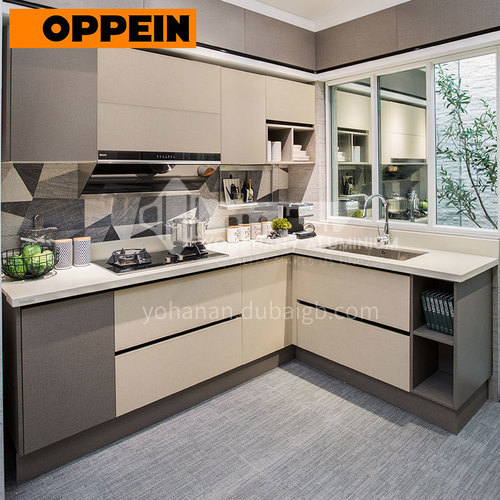 Modern Cabinet, Open Melamine with Particle Board kitchen-PLCC17084