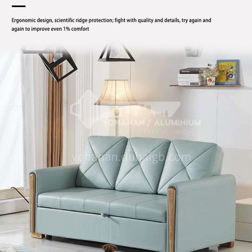 ZF-902 Modern and simple living room and bedroom can use sofa bed, solid wood armrests, high-density sponge