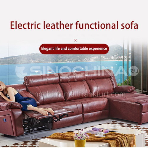 ZF-A889 Living room leather fabric high density sponge fashionable multifunctional modern sofa