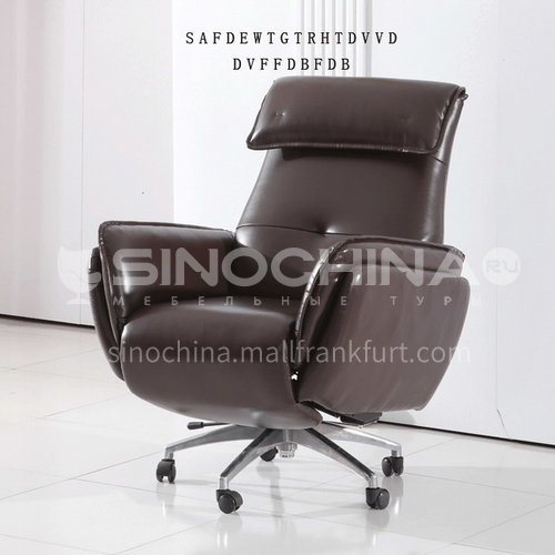 ZF-B063 Living room leather fabric small functional chair with wheels and metal tripod