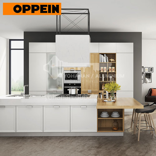 Nordic modern style mixed color collocation PVC with HDF-OP17-L11