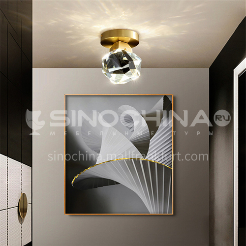 Nordic bedroom bedside lamp light luxury creative large simple dining room lamp single head ceiling lampAG-LD2705