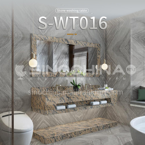 marble sink, wall-mounted sink, natural marble customization, combination of light  luxury wall-mounted marble sink S-WT016