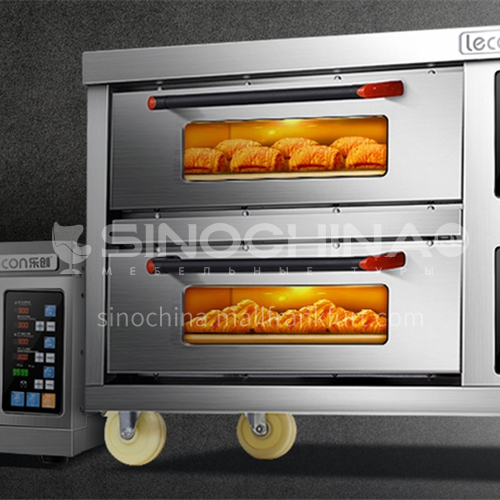 Lecon Electric oven commercial large capacity cake pizza large gas open oven DQ000761