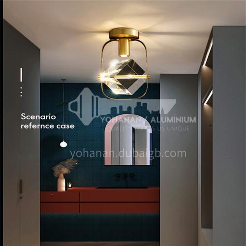 Modern all-copper light luxury entrance hall light entrance hall light Nordic simple creative crystal corridor aisle lightAG-LX2707