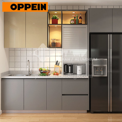 Modern style UV Lacquer with HDF open kitchen OP18-PP01