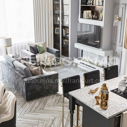 Apartment - Modern French Style Apartment Design AFS1042