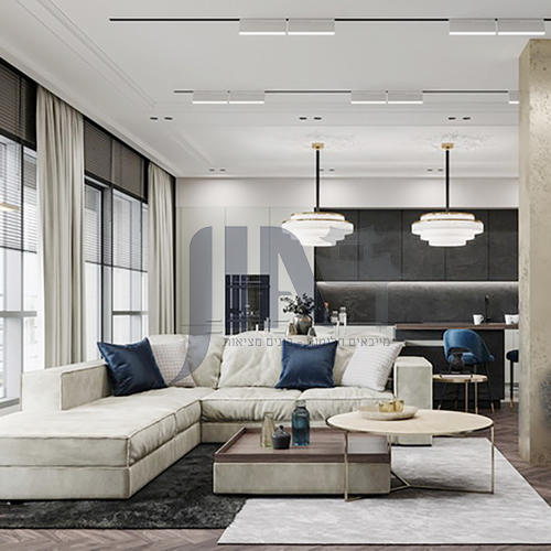 Apartment - modern minimalist French style apartment design AFS1041