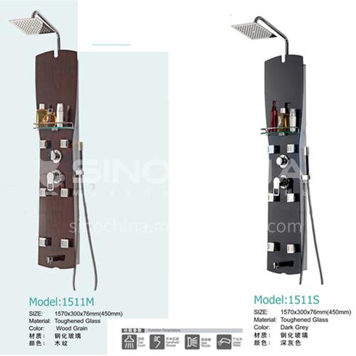 Tempered glass shower set, shower screen, massage nozzle faucet1511