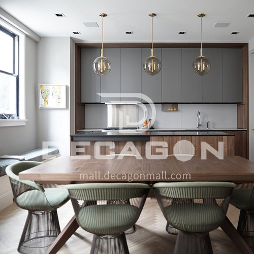 Modern design  UV lacquer with  HDF kitchen cabinets GK-1101