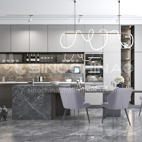 Andy designer's modern light luxury style kitchen