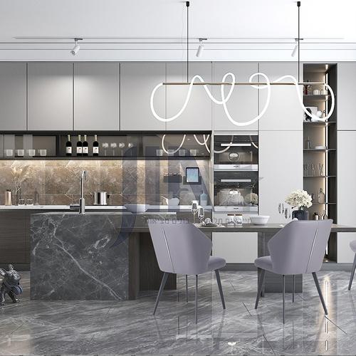Andy designer's modern light luxury style kitchen
