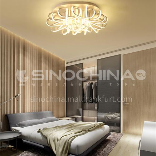 Crystal living room lamp Nordic bird's nest led ceiling lamp Lobby warm bedroom dining room lamp BOKJ-GB4713