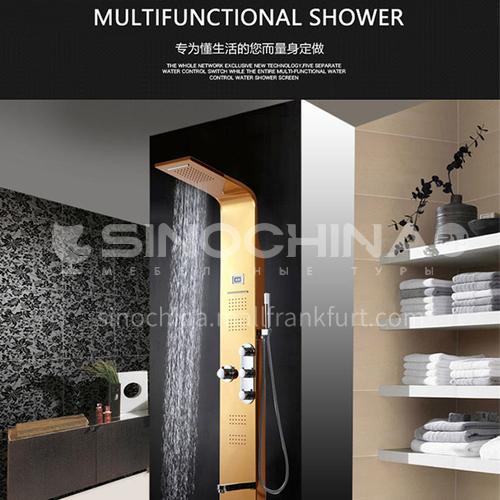 Wall-mounted shower screen bath shower set Household shower