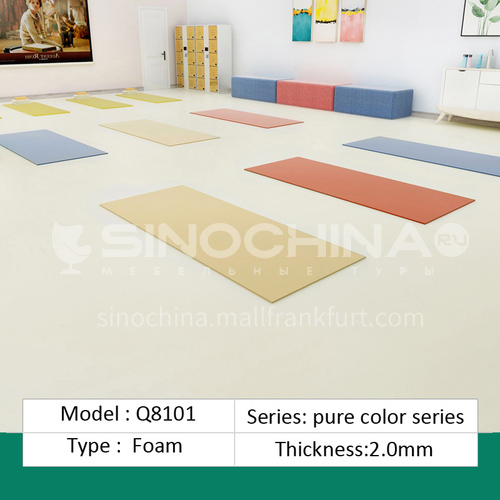Commercial PVC  flooring PVC coiled material thickened floor material wear-resistant waterproof floor glue hospital ward floor sticker QH