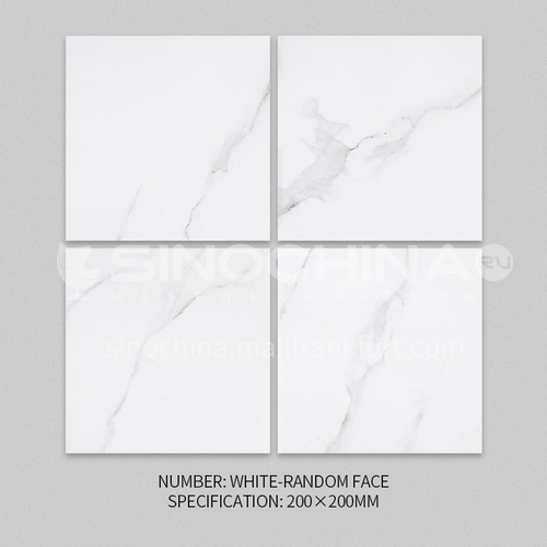 Nordic tile marble pattern antique brick kitchen wall tile bathroom floor tile-XWZWHITE-RANDOM FACE 200*200mm