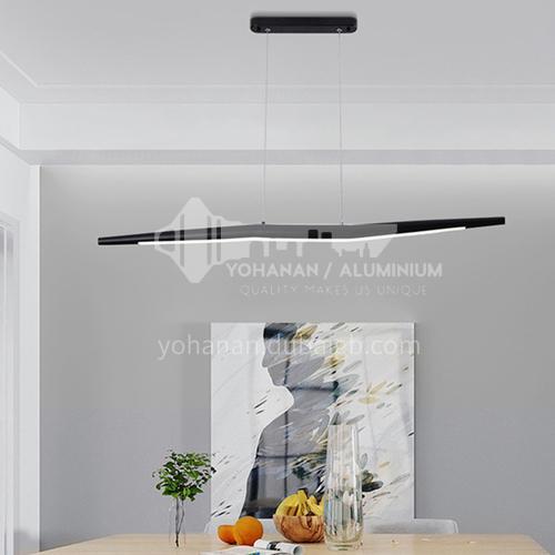 Danish dining room chandelier Nordic homestay led strip modern living room office light BOKJ-GB6187