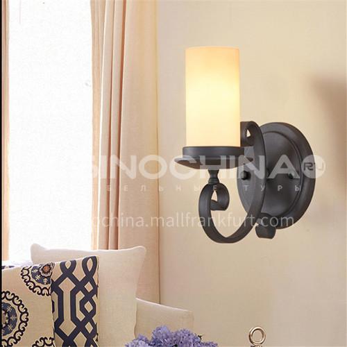 Wall lamp American European style double head wall lamp bedroom study bedside corridor staircase lamp aisle wall lamp door lampBT-M1090