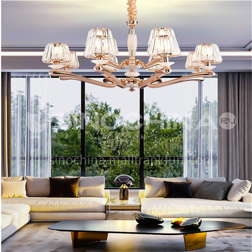 American chandelier living room lamps modern minimalist new hall crystal bedroom dining room Hong Kong style light luxury European style lampsBQ-7180