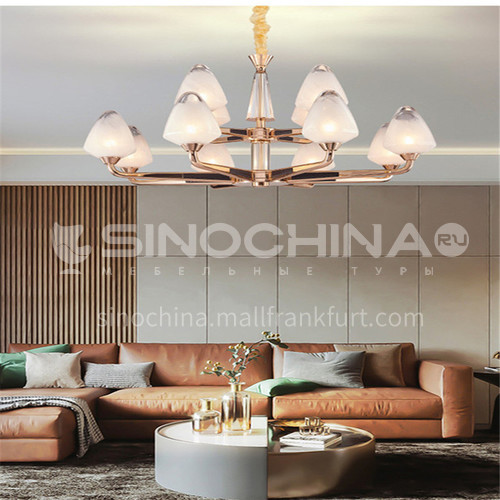 American chandelier living room lamps modern minimalist new hall crystal bedroom dining room Hong Kong style light luxury European style lampsBQ-7182