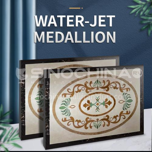 Modern high-end design natural marble stone medallion W-JR1125