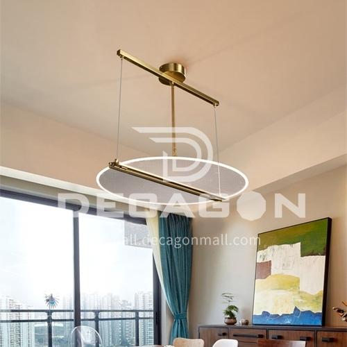 Acrylic led Nordic modern light luxury living room bedroom dining chandelier-FTYB-6608