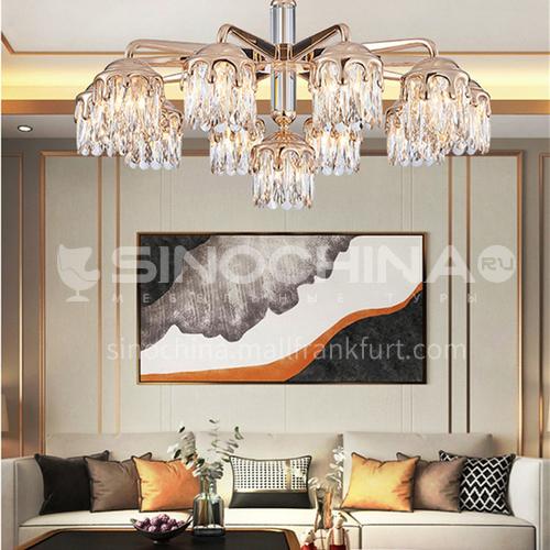 American retro living room chandelier French creative handmade glass modern study lamp light luxury restaurant bedroom hallway lampBQ-7185