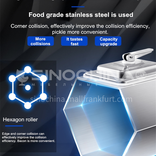 Lecon Burger Shop Fried Chicken BBQ Shop Timed Commercial Marinating Machine Tumbler Computer Vacuum Marinated Meat Machine   DQ000996