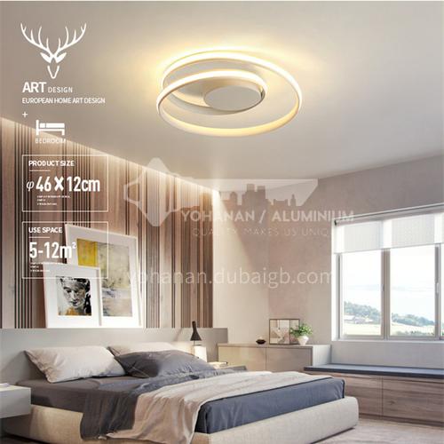 Bedroom lamp Simple and modern led ceiling lamp Round living room bedroom lamp Creative wedding room lamp BOKJ-GB6285