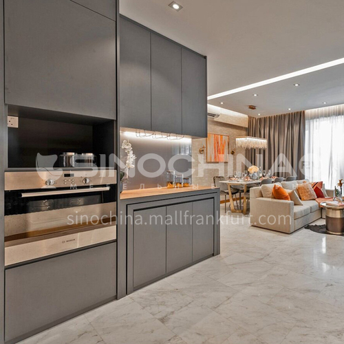 Modern designUV lacquer with  HDF kitchen cabinets GK1170