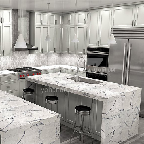 Nordic style Classical style kitchen PVC with HDF GK-1165