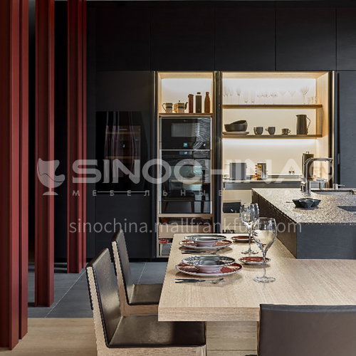 Modern designUV lacquer with  HDF kitchen cabinets GK1171