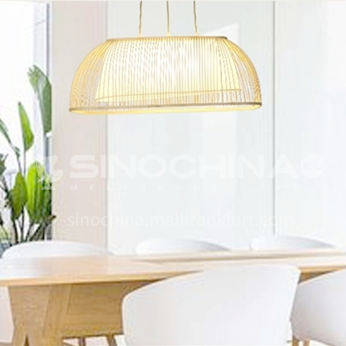 Bamboo art retro design chandelier Simple creative personality restaurant art lamps-LY-ZP-239