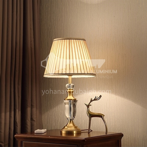 European style room bedside lamps, high-end simple, warm and creative light luxury crystal table lamp-MXDS-E9926