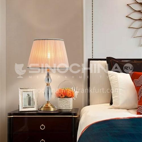European style retro crystal table lamp bedroom bedside living room creative luxury villa lighting-MXDS-E9960