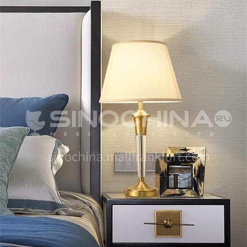 Modern minimalist creative living room lamps, crystal light luxury decoration, high-end bedroom bedside table lamps-MXDS-E9961