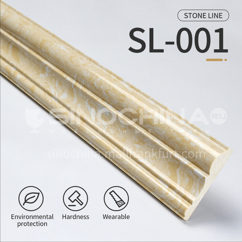 Artifical stone floor skirting, living room skirting, marble waterproof waveguide line, marble background wall frame, door cover line edging  SL-001