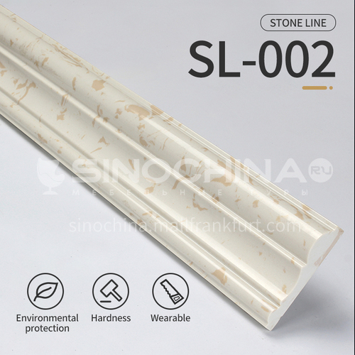 Artifical stone floor skirting, living room skirting, marble waterproof waveguide line, marble background wall frame, door cover line edging SL-002