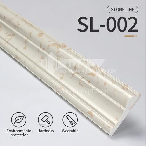 Artifical stone floor skirting, living room skirting, marble waterproof waveguide line, marble background wall frame, door cover line edging SL-002