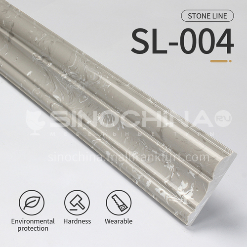Artificial stone floor skirting, living room skirting, marble waterproof waveguide line, marble background wall frame, door cover line edging  SL-004