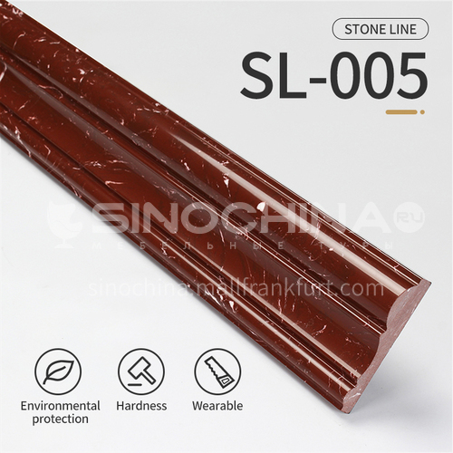 Artificial stone floor skirting, living room skirting, marble waterproof waveguide line, marble background wall frame, door cover line edging   SL-005