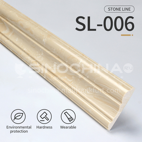 Artificial stone floor skirting, living room skirting, marble waterproof waveguide line, marble background wall frame, door cover line edging  SL-006