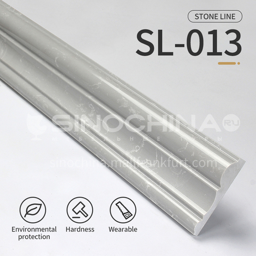 Artificial stone floor skirting line, living room skirting line, artificial stone waterproof waveguide line, artificial stone background wall frame, door cover line edging   SL-013