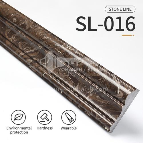Artificial stone floor skirting, living room skirting, marble waterproof waveguide line, marble background wall frame, door cover line edging  SL-016