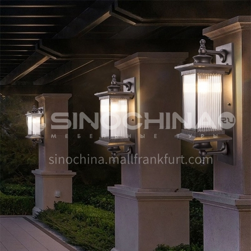 American style outdoor corridor aisle waterproof creative simple courtyard balcony European style wall lamp  MTBD-081