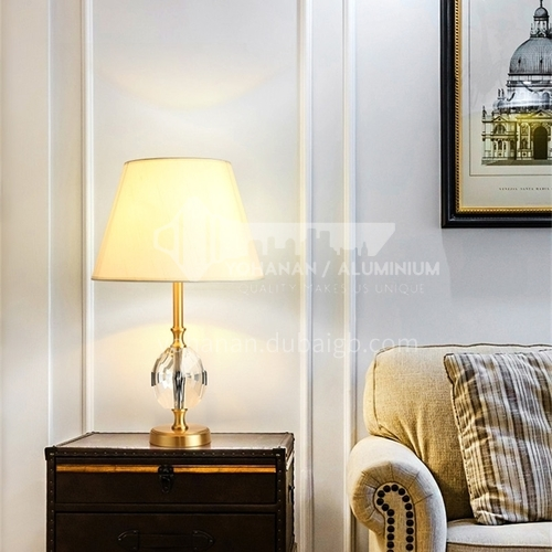 European style fashion simple table lamp, bedroom bedside living room crystal lamps-MXDS-E9965